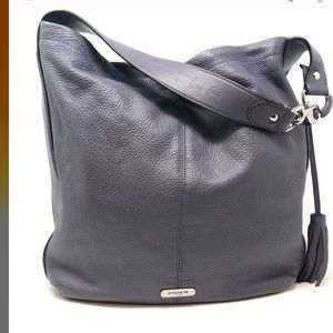 Coach Large Gray Leather Avery Hobo Purse